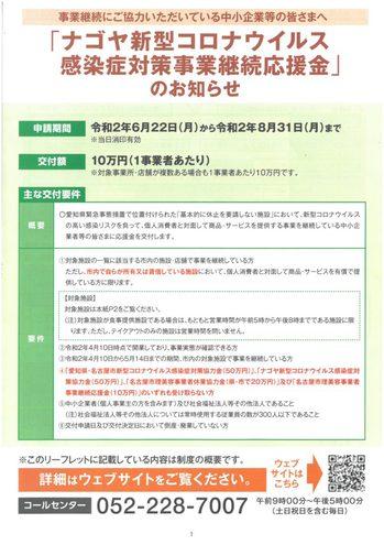 ナゴヤ新型コロナウイルス感染症対策事業継続応援金